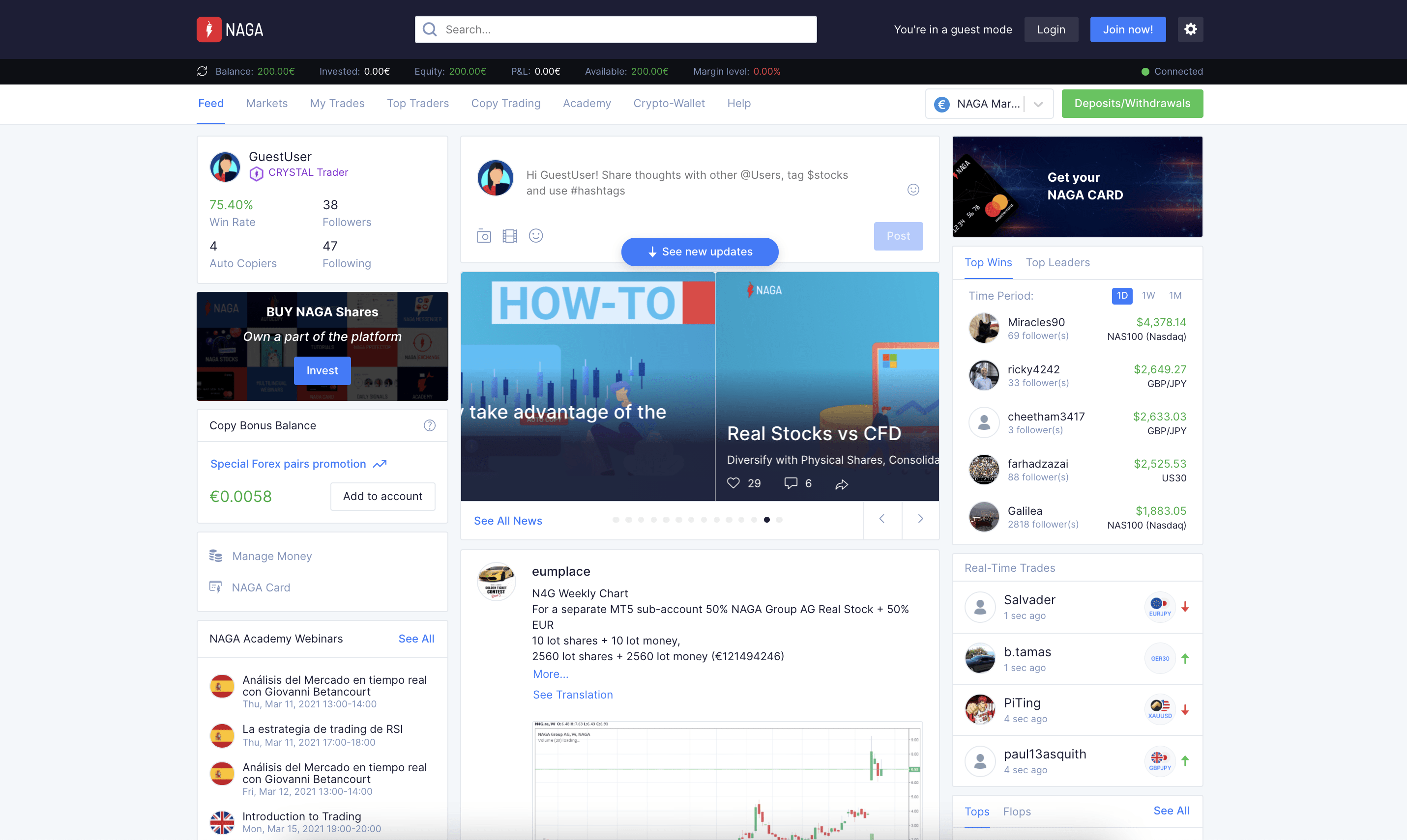 Naga - best social trading platform
